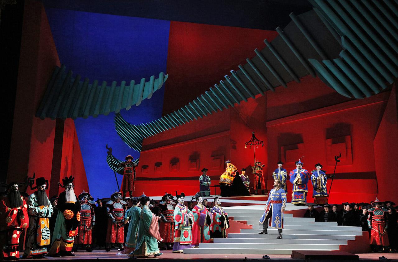 The stunning David Hockney designed stage set