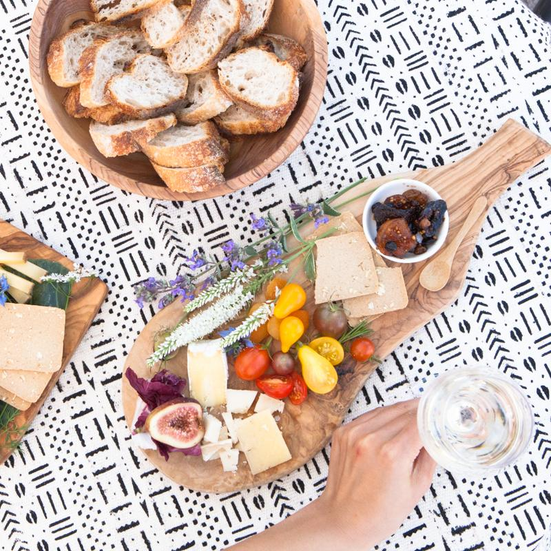 A cheese platter at Fisher's