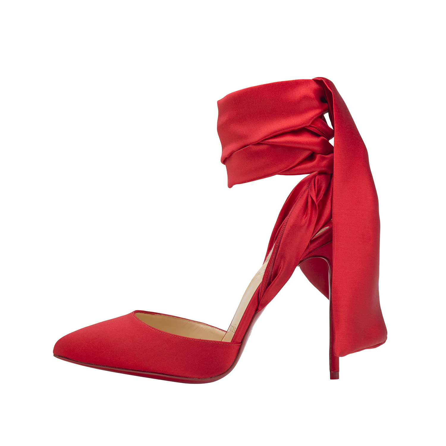 Crepe satin flamenco shoe