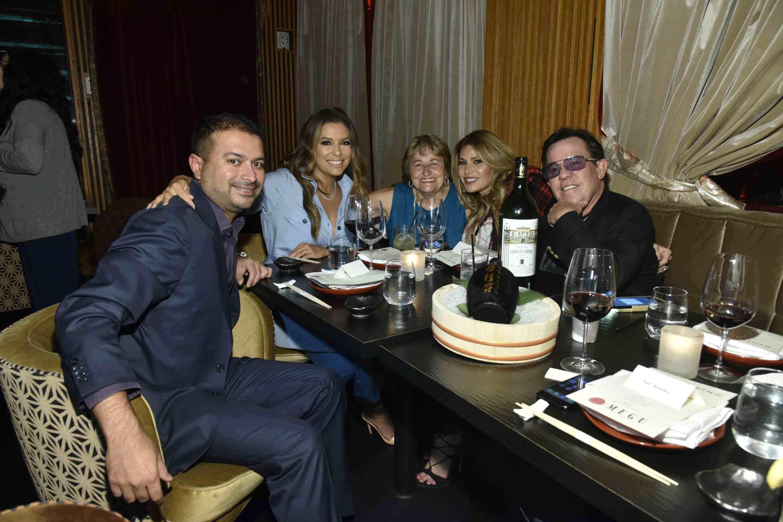 Kamal Hotchandani, Eva Longoria, Ella Longoria, Loren and JR Ridinger