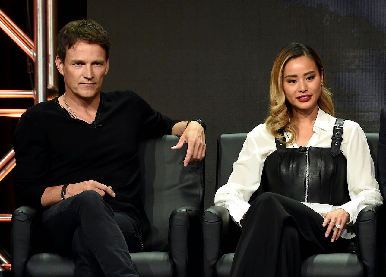Stephen Moyer and Chung at 'The Gifted' panel at the 2017 Fox Summer TCA at The Beverly Hilton Hotel, Tuesday, August 8 in Beverly Hills, CA.
