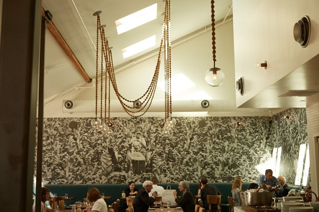The dining room at Farmshop