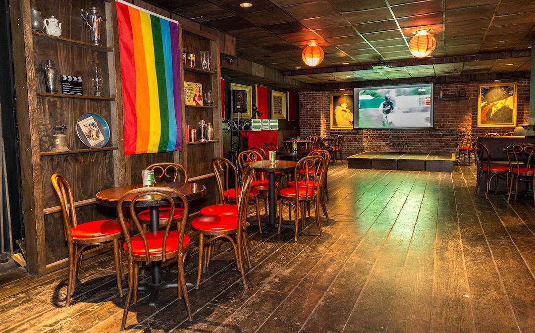 Inside Ginger's bar
