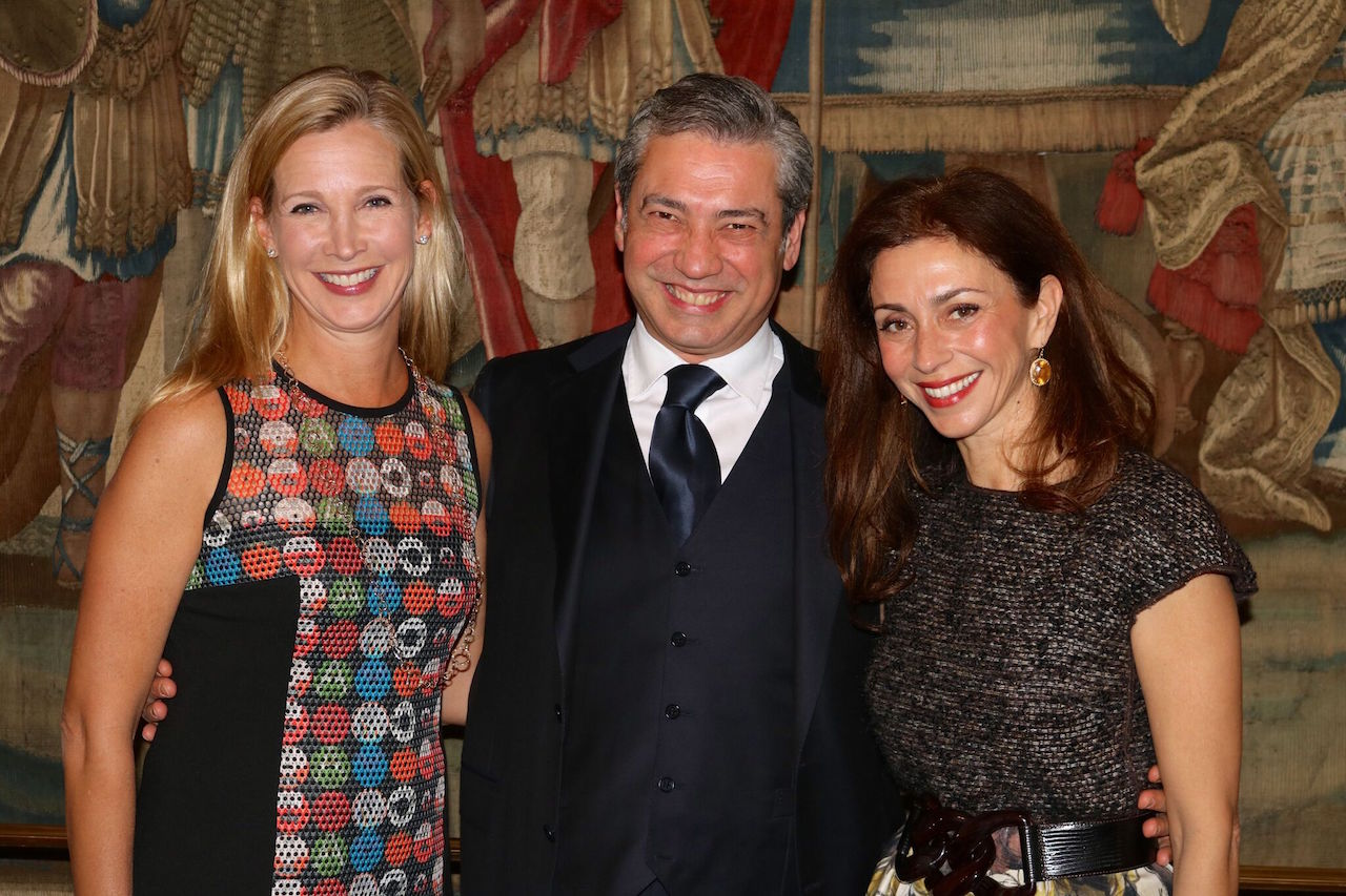 Opera Ball 2017 gala co-chairs Courtney Labe (left) and Maryam Muduroglu (right) with San Francisco Opera Music Director Nicola Luisotti