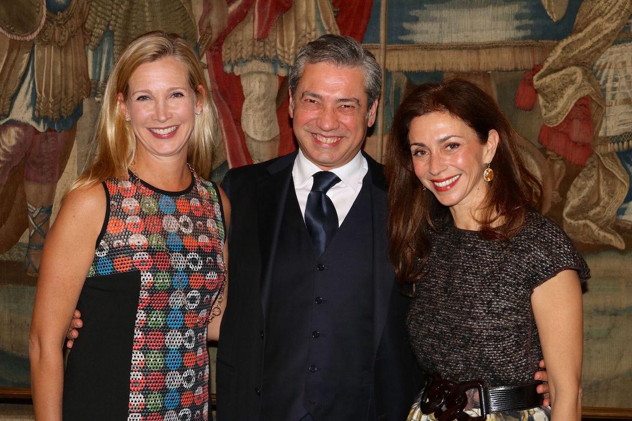 Opera Ball 2017 gala co-chairs Courtney Labe (left) and Maryam Muduroglu (right) with San Francisco Opera Music Director Nicola Luisotti