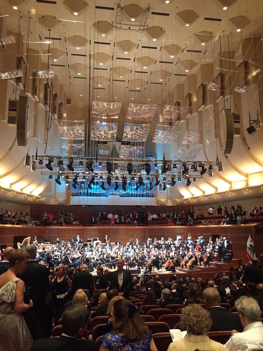 Inside Davies Symphony Hall