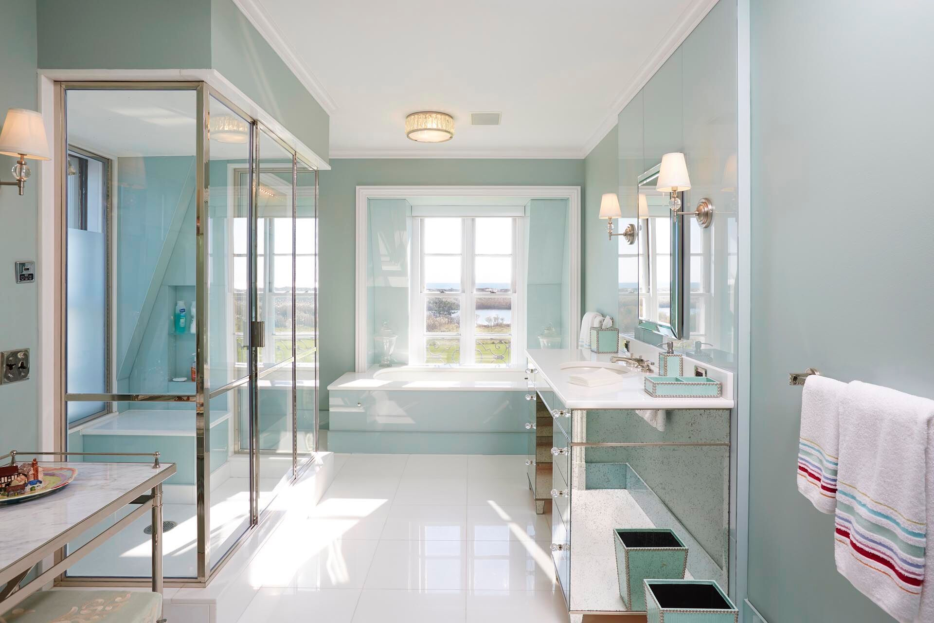 A bathroom at an estate in the Hamptons