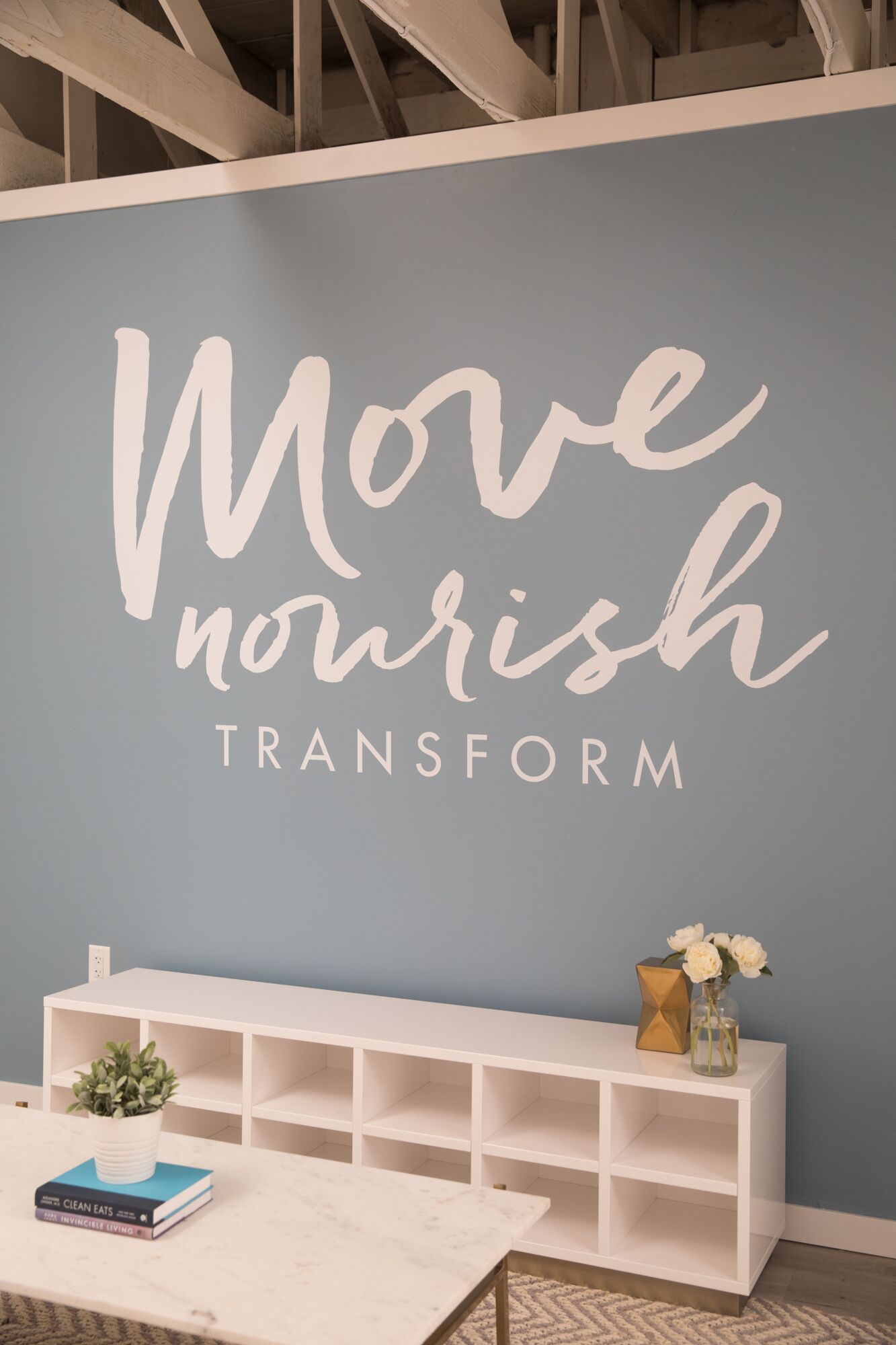 The fitness studio's mantra is move, nourish, transform