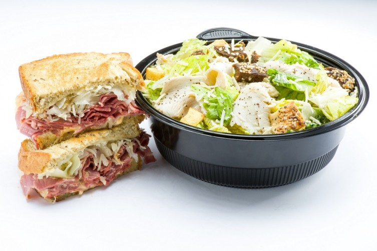 Reuben Sandwich_Caesar Salad_Brooklyn Water Bagel