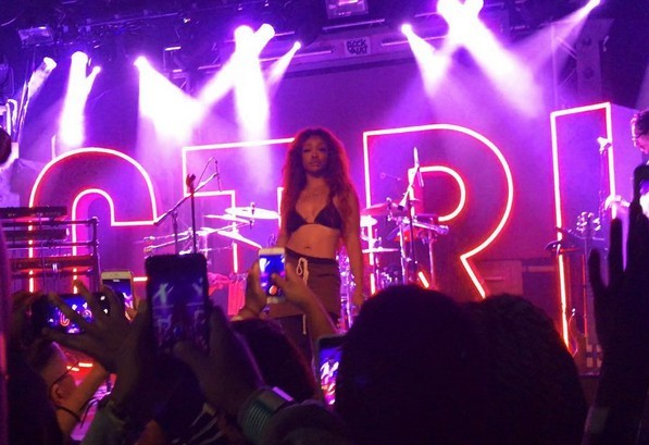 SZA Performs at Vinyl inside Hard Rock Hotel and Casino, T-Mobile Arena and Las Vegas 3 on 3 Community Basketball Game haute living tita carra