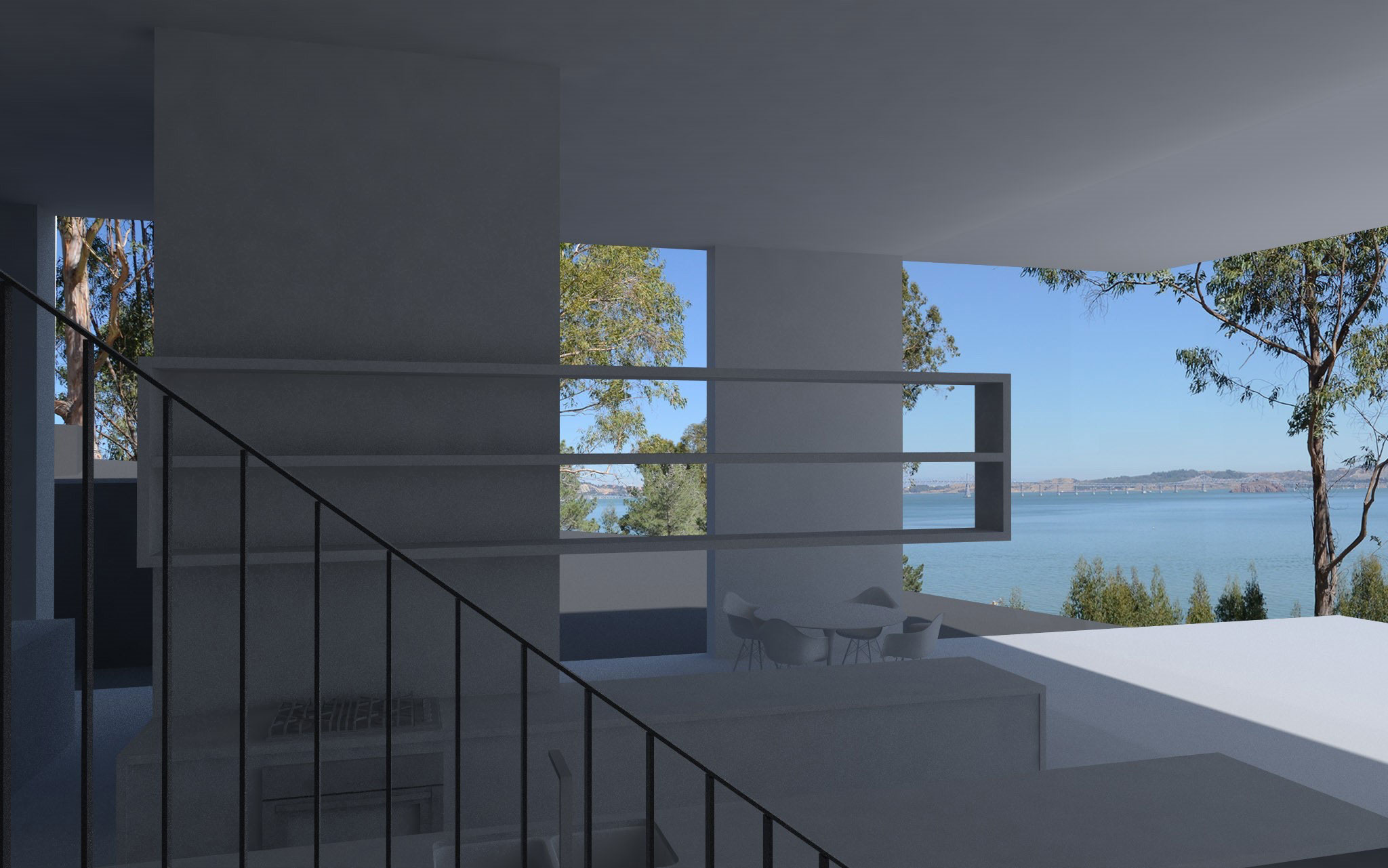 A rendering of the view at the Steely estate