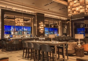 Football Games Are Being Streamed At These 4 Super Fancy Lounges VISTA cocktail lounge las vegas hakkasan group haute living tita carra