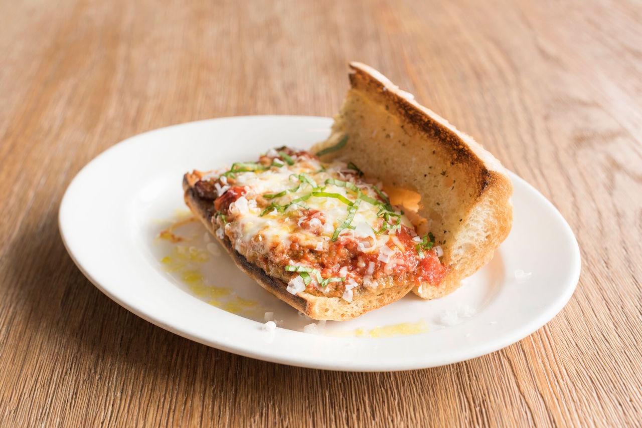 The eggplant parmesan sandwich