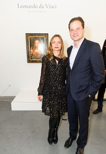 Christie's Reception - Leonardo da Vinci's lost painting visits SF