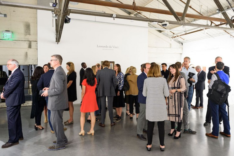 Christie's Reception - Leonardo da Vinci's lost painting visits SF