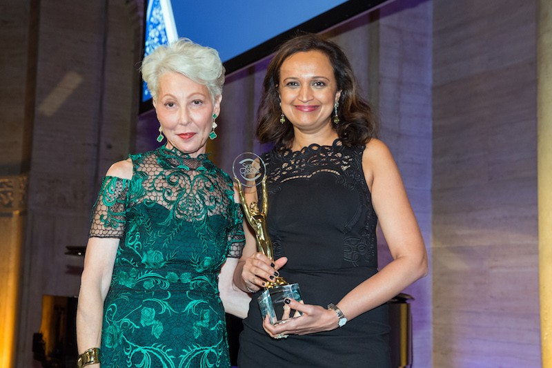 Skin Cancer Foundation President, Dr. Deborah S. Sarnoff and Champion for Change honoree Priya Venkatesh, Vice President of Merchandising, Skincare and Hair, at Sephora.