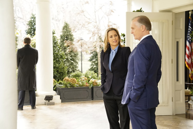 "Tea Leoni and Keith Carradine in ""Madam Secretary"""