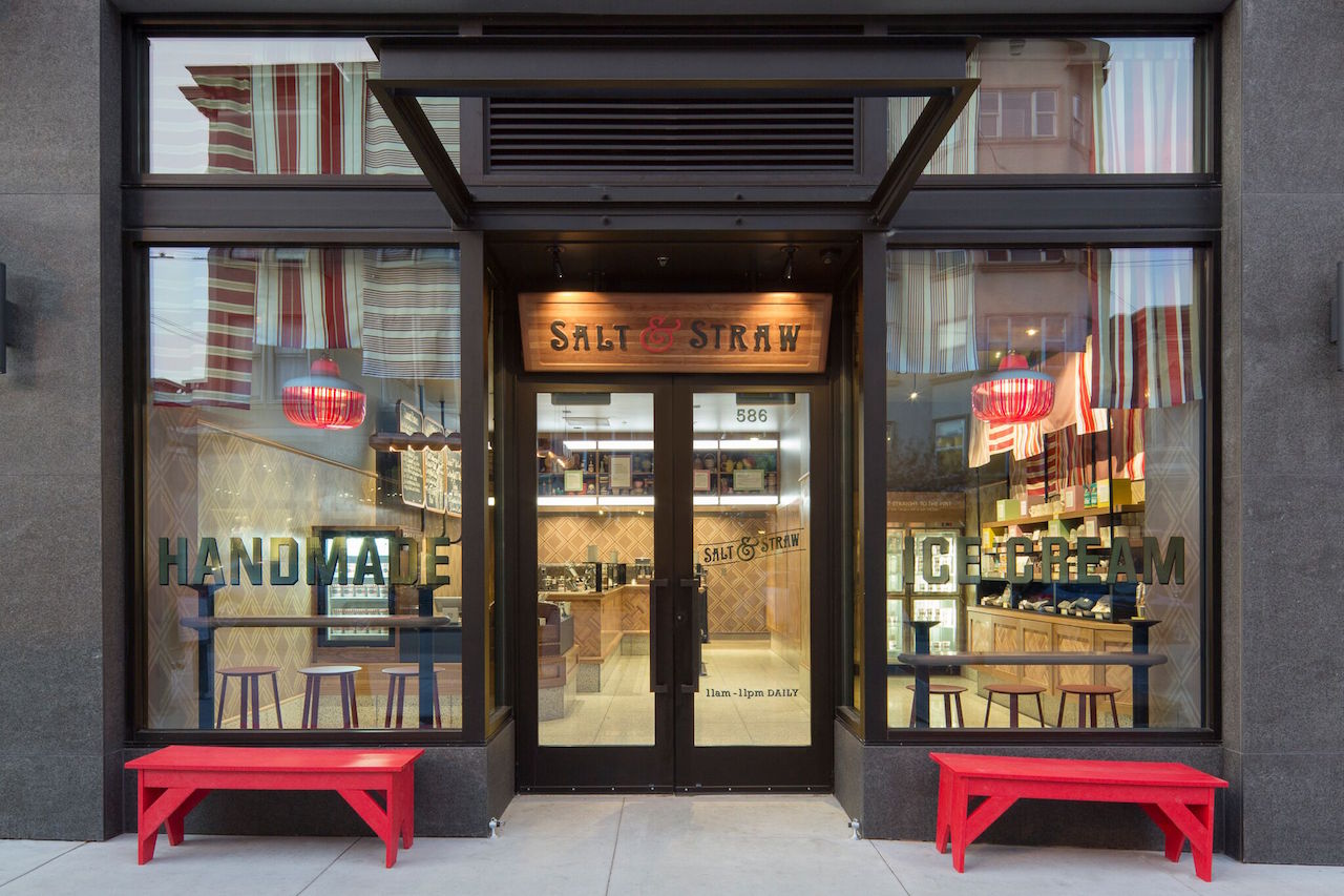 The new Salt & Straw storefront in Hayes Valley