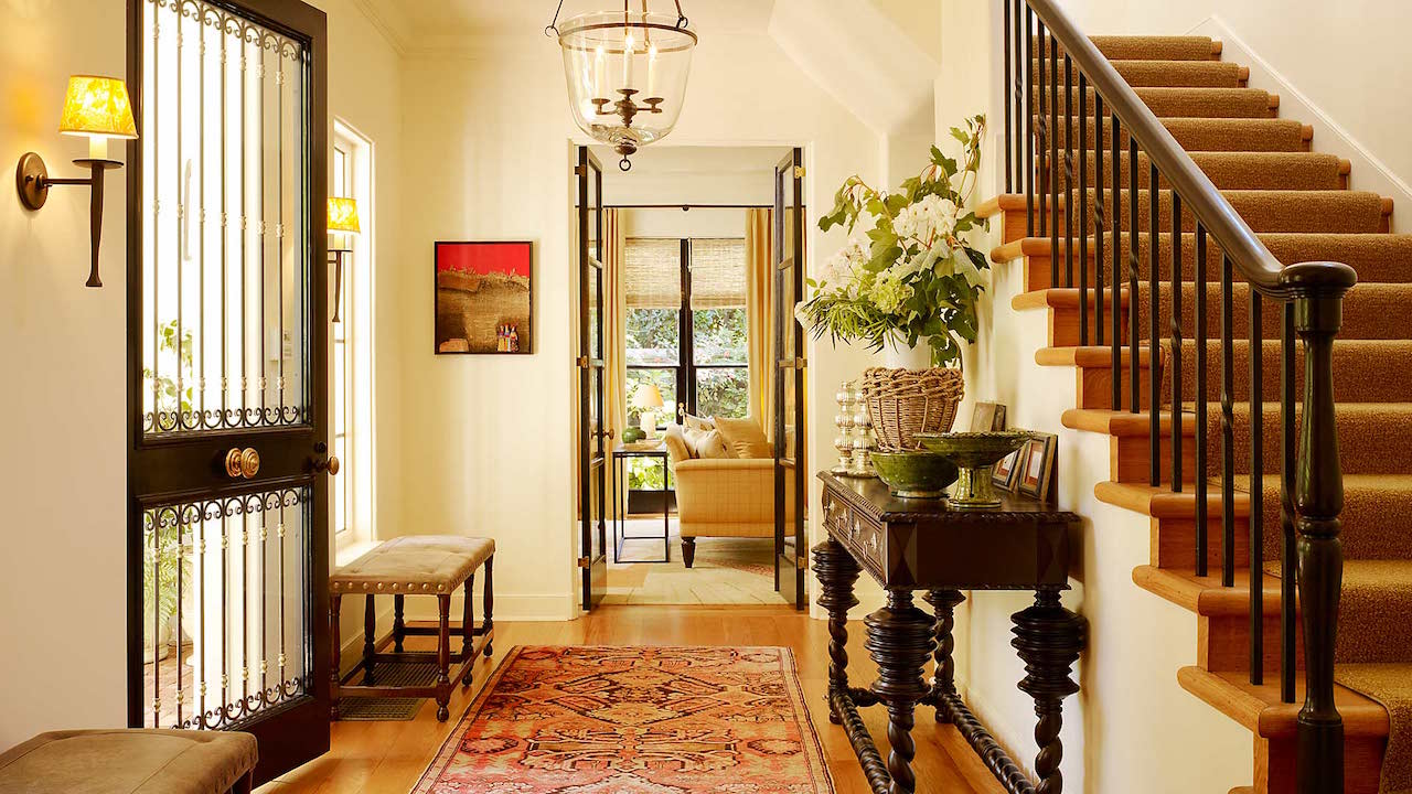 A foyer designed by Pamela Babey