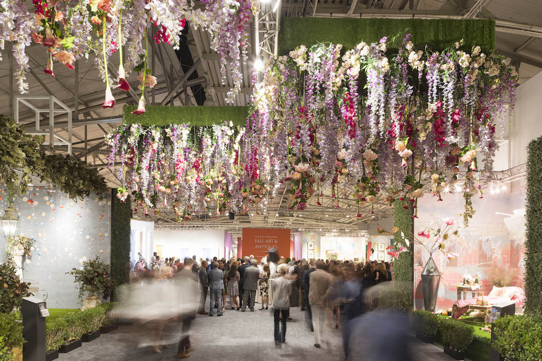 The stunning floral installation