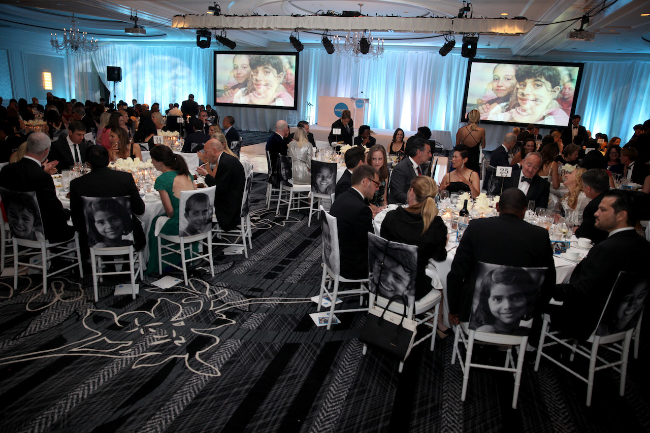 A view inside the ballroom at the inaugural UNICEF Gala