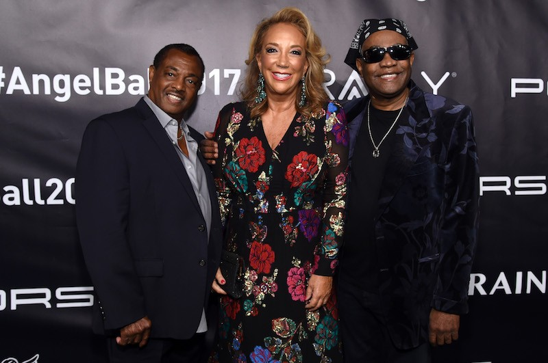 (L-R) Robert Kool Bell, Denise Rich, and Ronald Bell, of Kool & The Gang