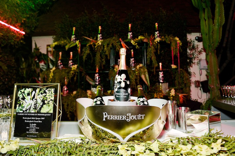 Perrier-Jouet on display