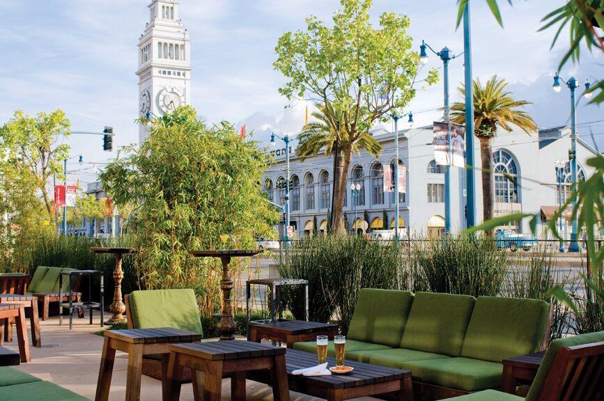The patio at Americano