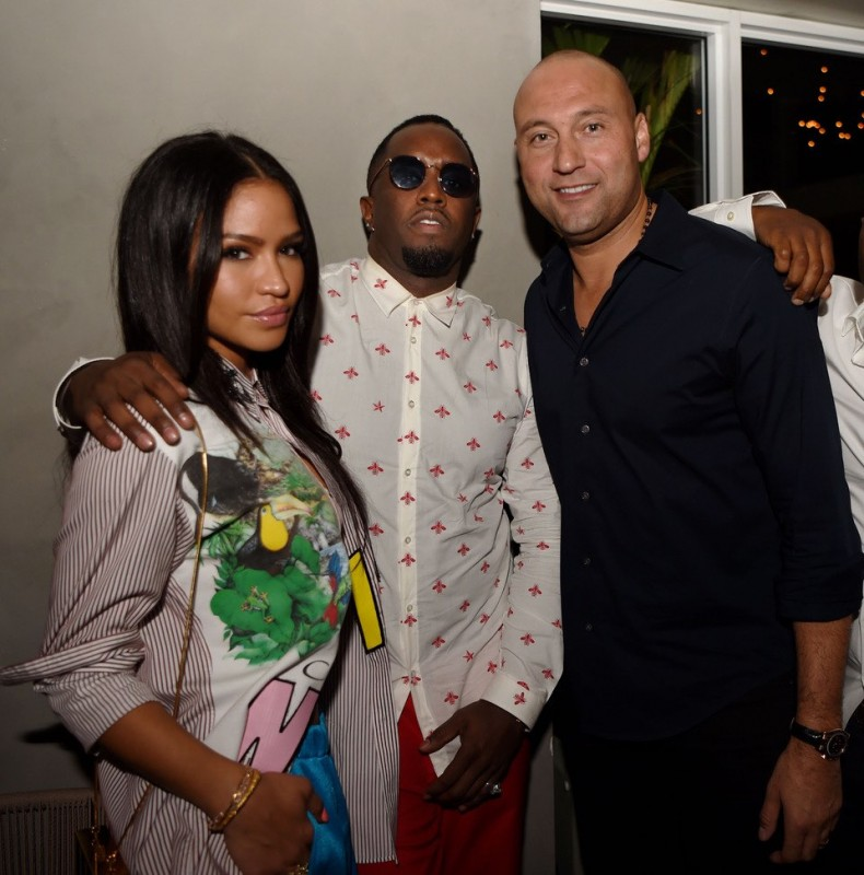 Cassie, Diddy and Derek Jeter