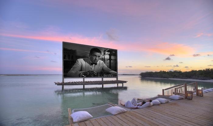 Cinema Paradiso at Soneva Jani by Stevie Mann