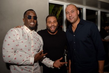 Diddy, Dave Grutman and Derek Jeter