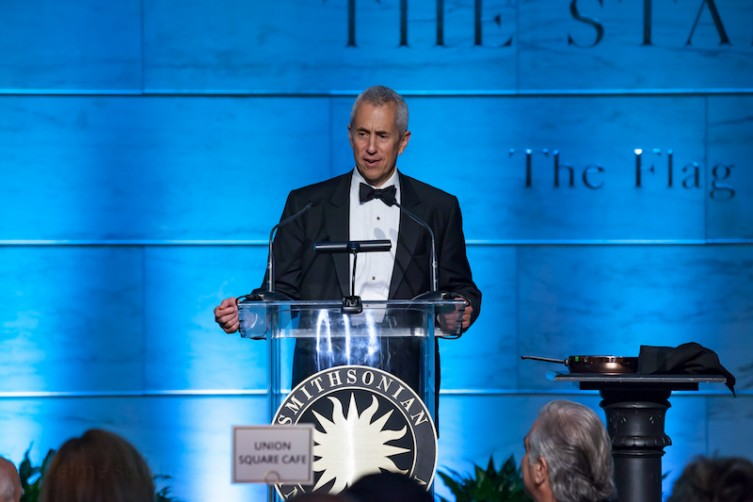 Danny Meyer shares remarks at the Smithsonian Food History Gala.