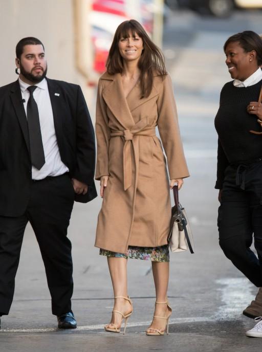 Jessica Biel Wearing Max Mara Manuela Coat