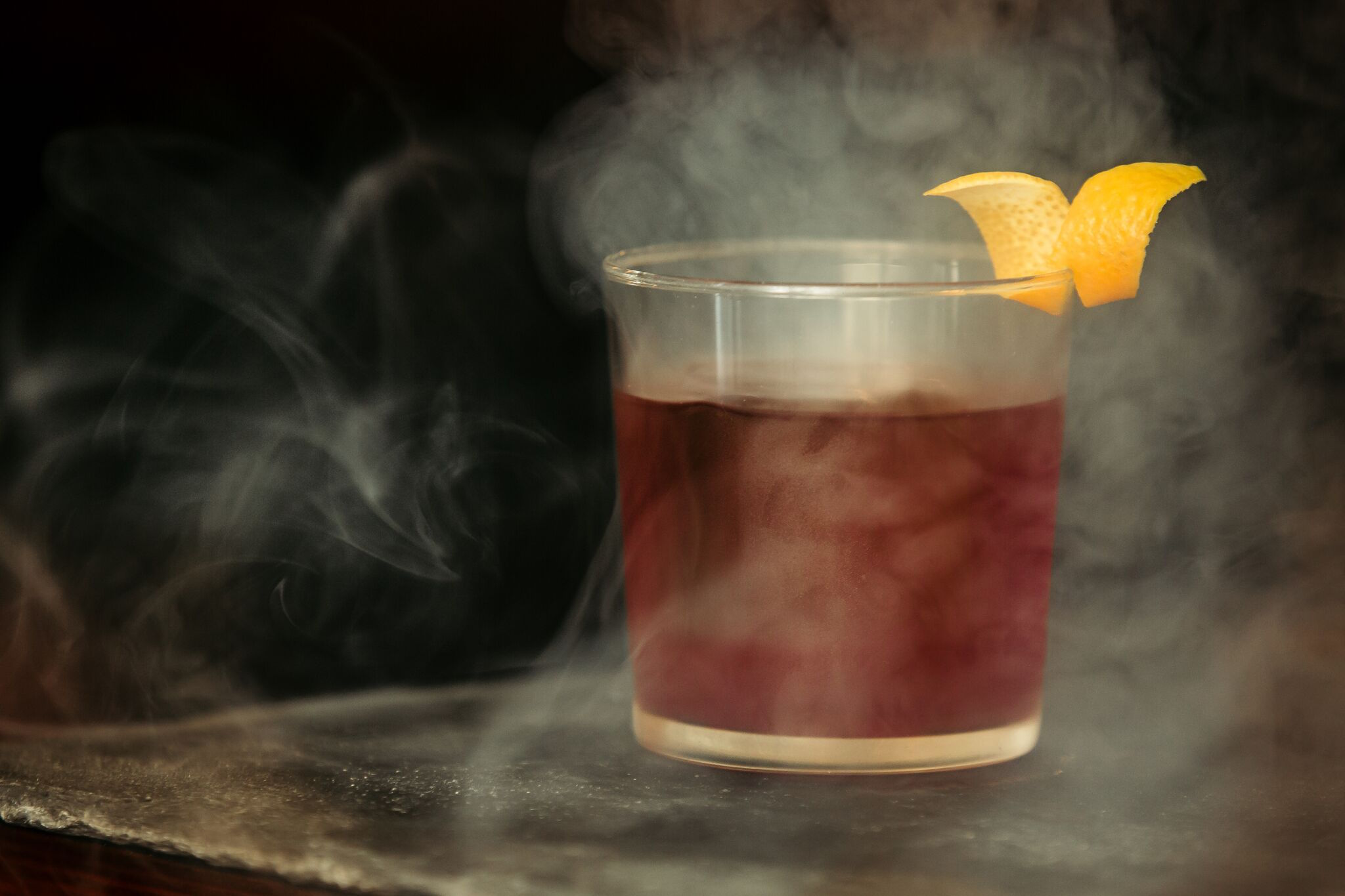 Celebrate the city's most iconic weather element by way of Karl the Fog, a smoky brew of Highland Park Magnus, honey, and bitters