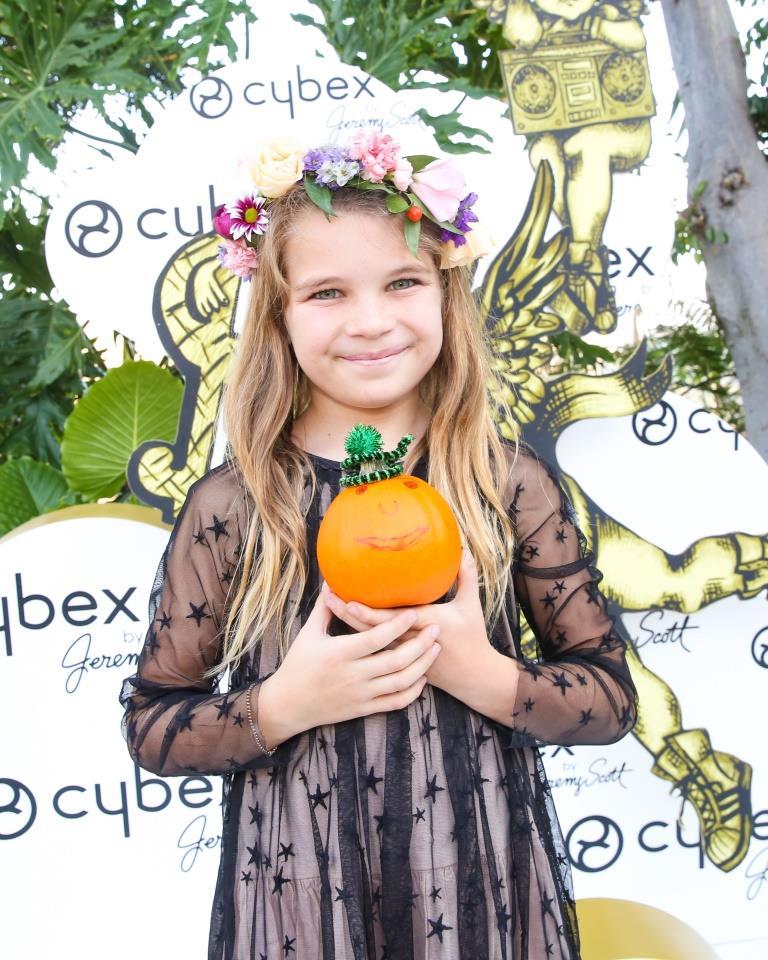 Raegan Revord with her pumpkin / Photo credit: BFA