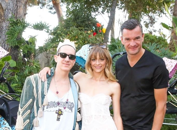 Jeremy Scott, Jamie King, and CYBEX CEO Martin Pos / Photo credit: BFA