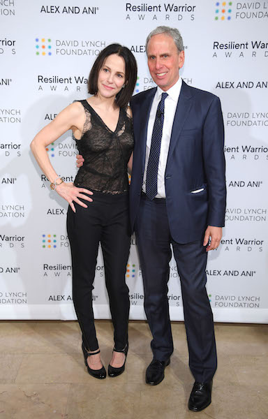 Mary-Louise Parker and CEO, David Lynch Foundation Bob Roth Foundation)