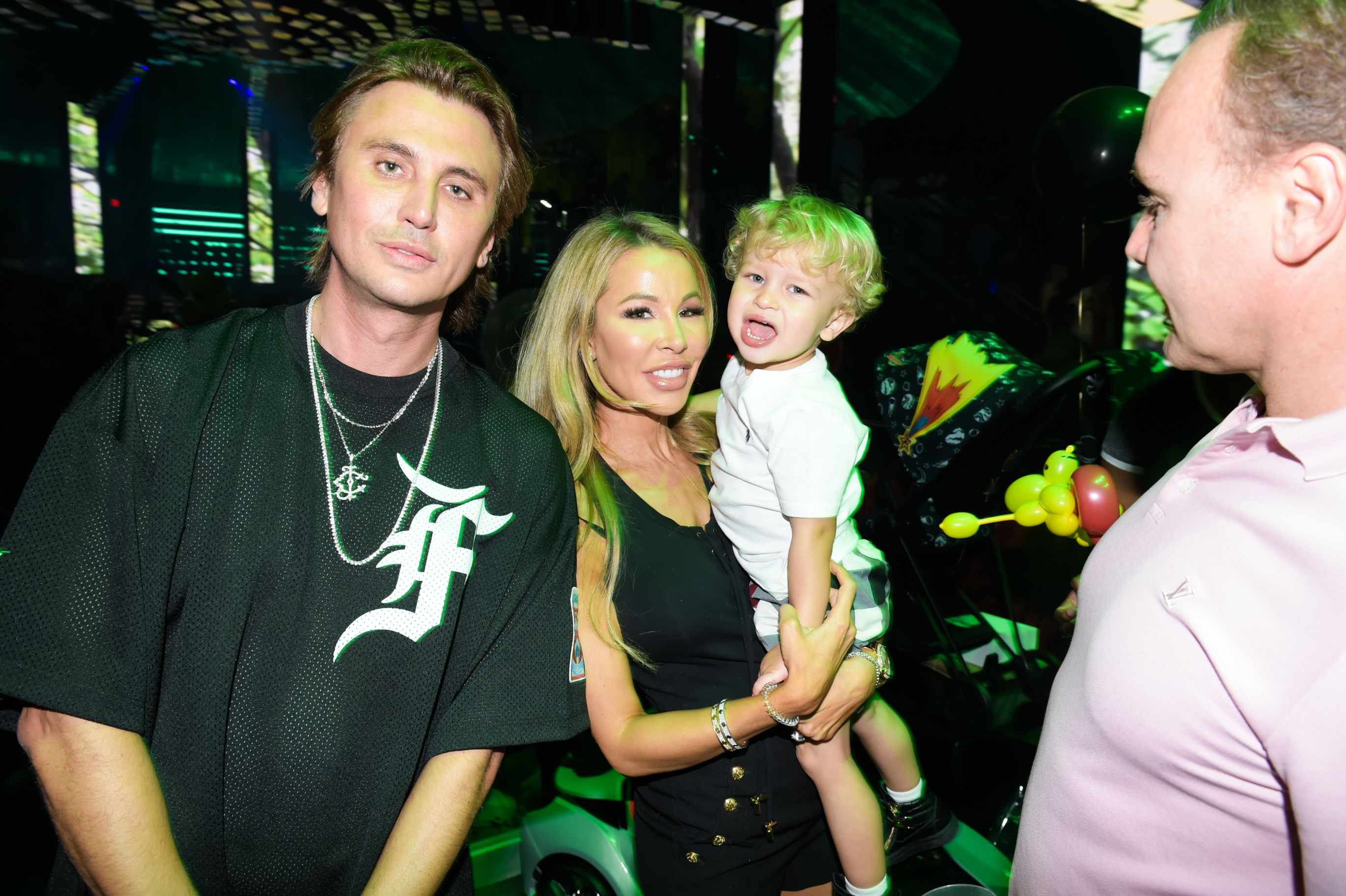 Jonathan Cheban, Lisa Hochstein with her son Logan