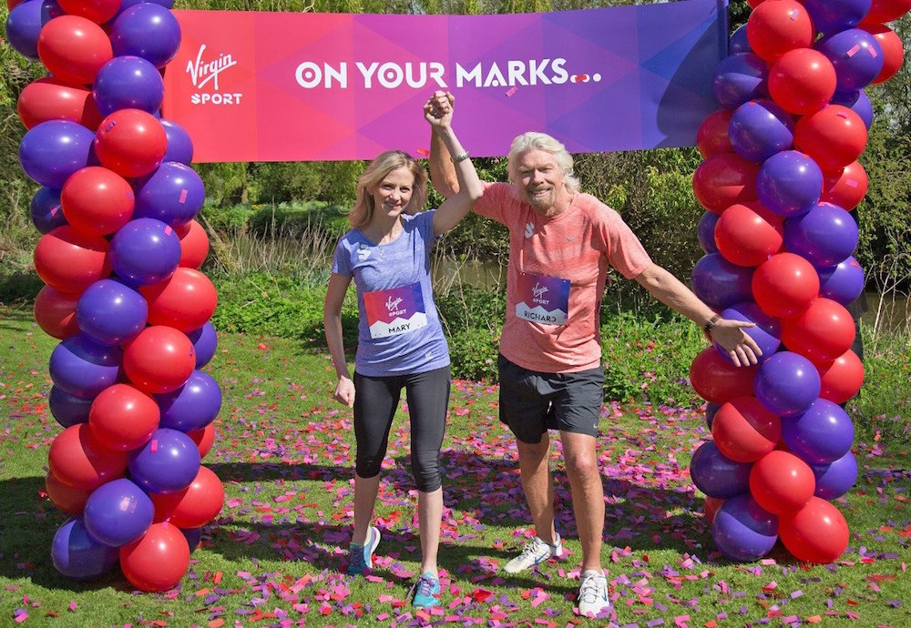 Mary Wittenberg and Richard Branson