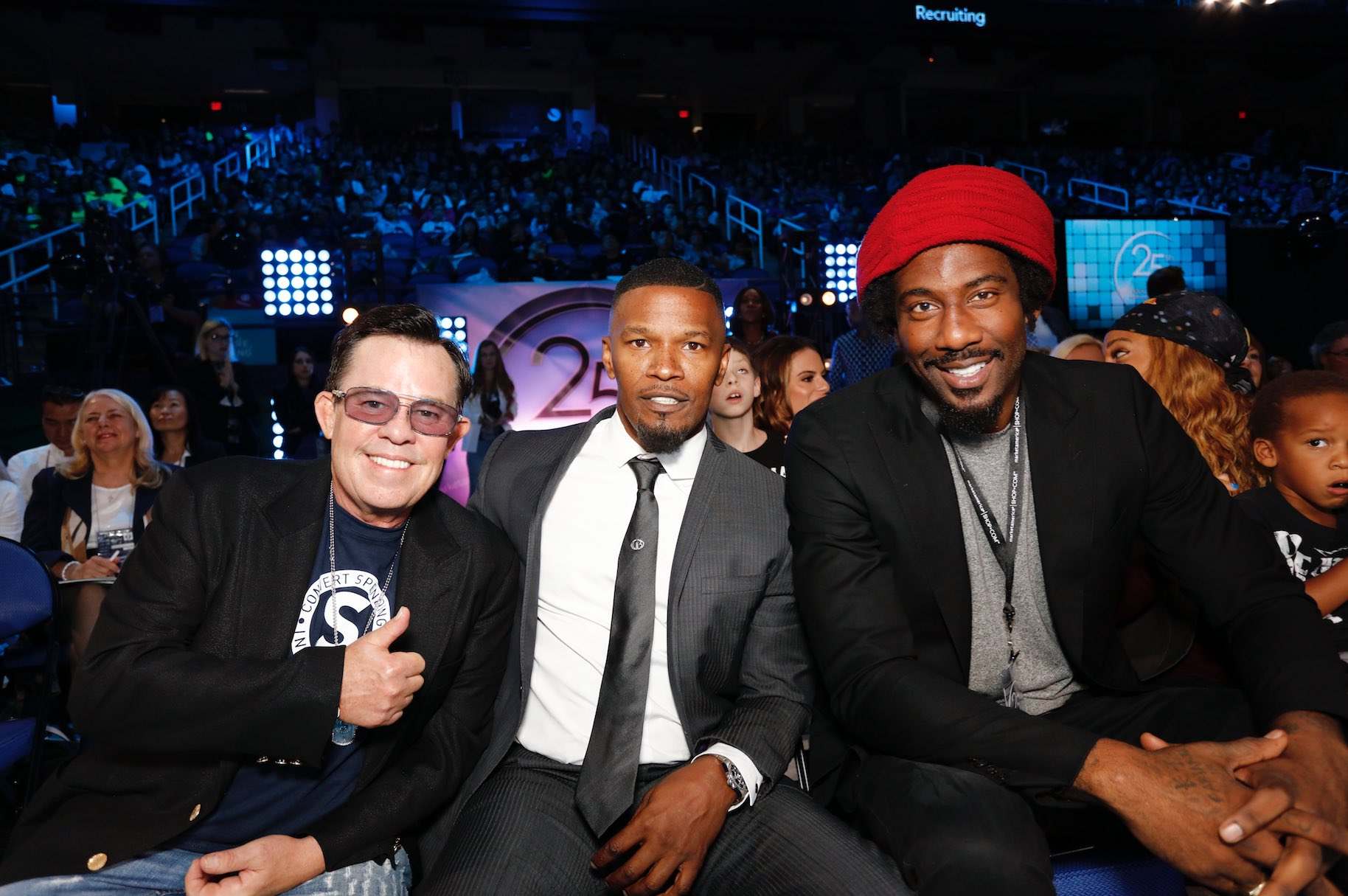 JR Ridinger, Jamie Foxx and Amar'e Stoudemire