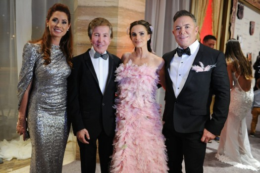 Nancy and Al Malnik, Gabrielle Anwar and Shareef Malnik at the 2016 Make-A-Wish Ball