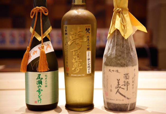 Sushi Ginza Onodera Sakes by Michael Tulipan