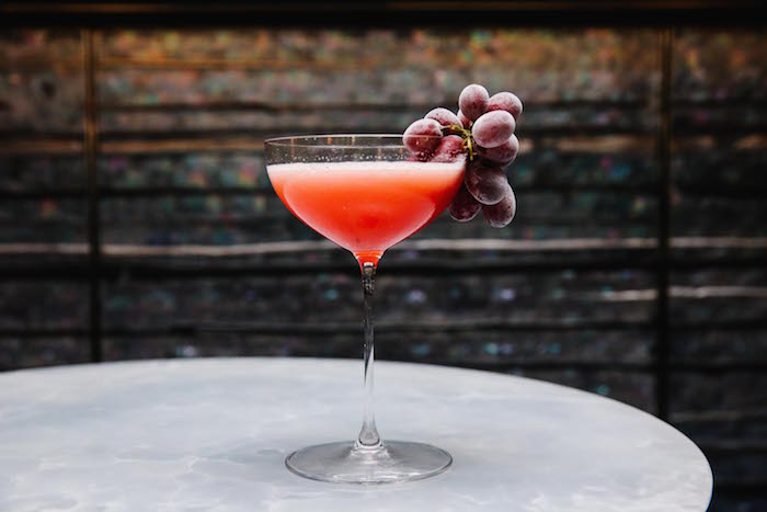 """I love how many different forms of ""grape"" we see around the world. I wanted to combine as many different ones I could and form an ultimate grape cocktail. Naturally I took the pisco sour as my starting point and layered from there."" - Thomas Waugh"