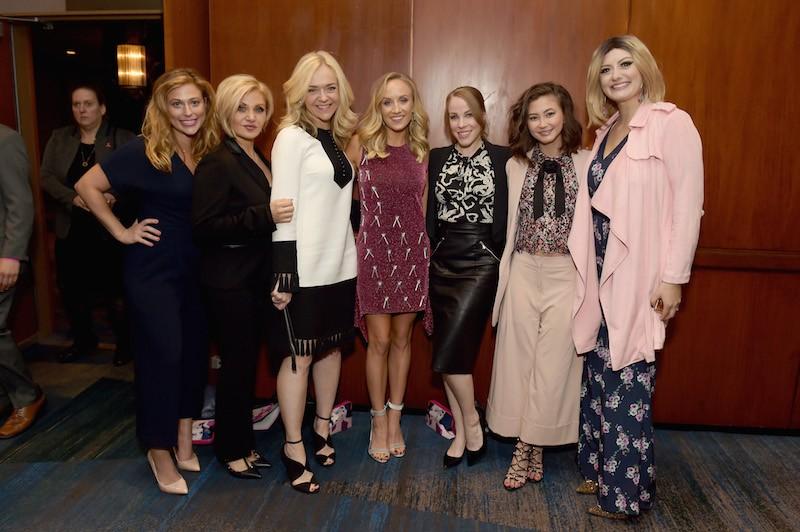 L-R: Valerie Greenberg, Orfeh, Rachel Bay Jones, Nastia Liukin, Emma Myles, Kimiko Glenn, and Francesca Curran