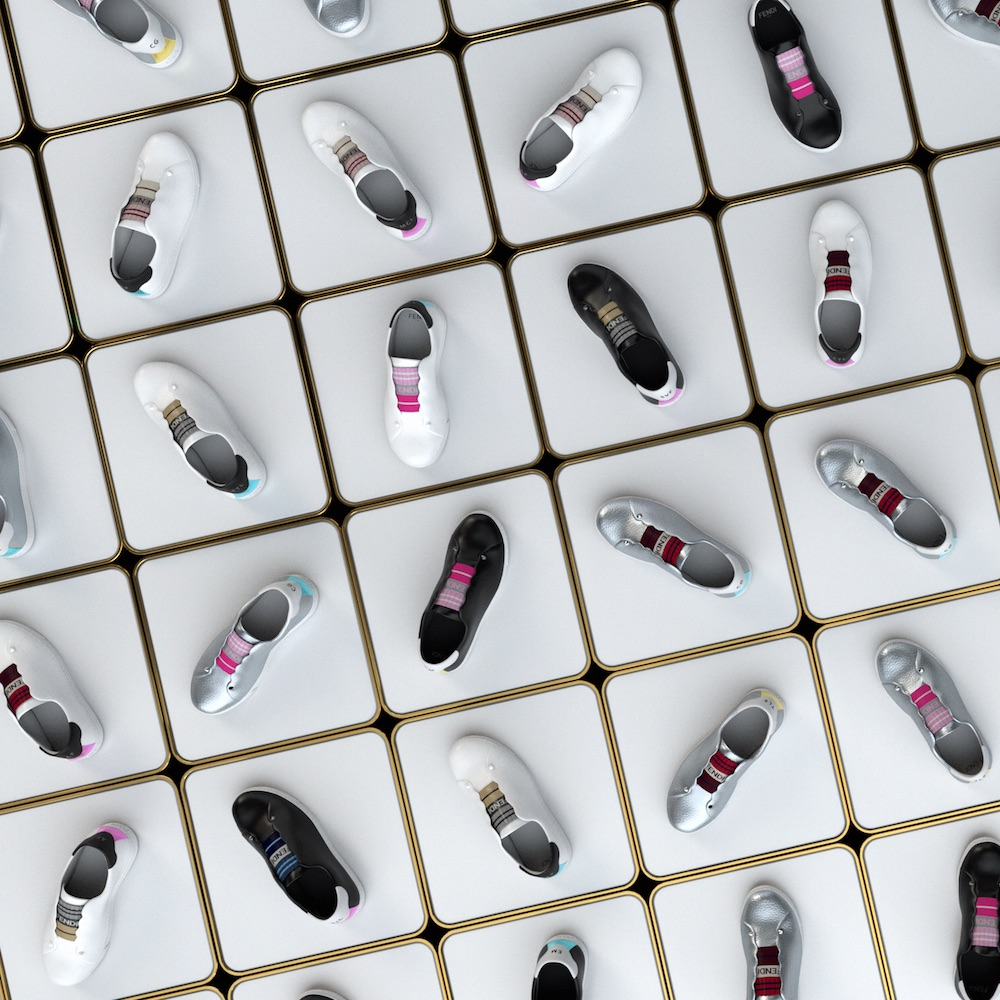 Fendi's customizable sneakers