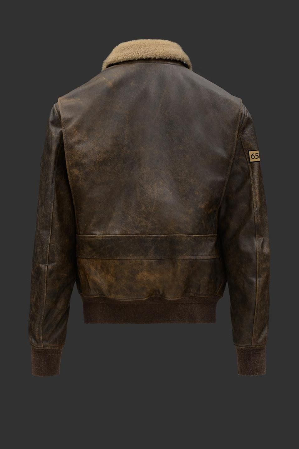 The back of the jacket