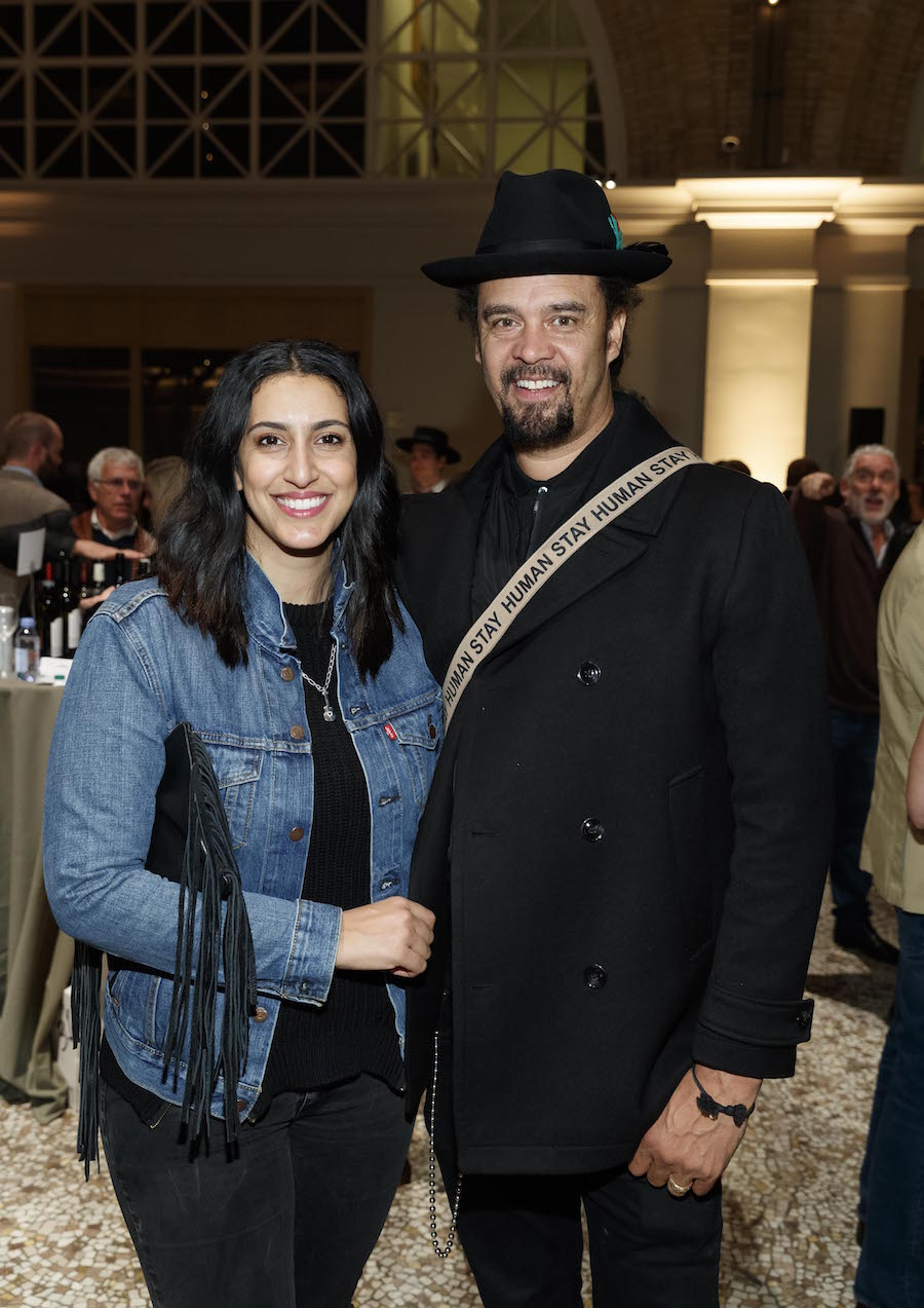 Sara Agah Franti and Michael Franti
