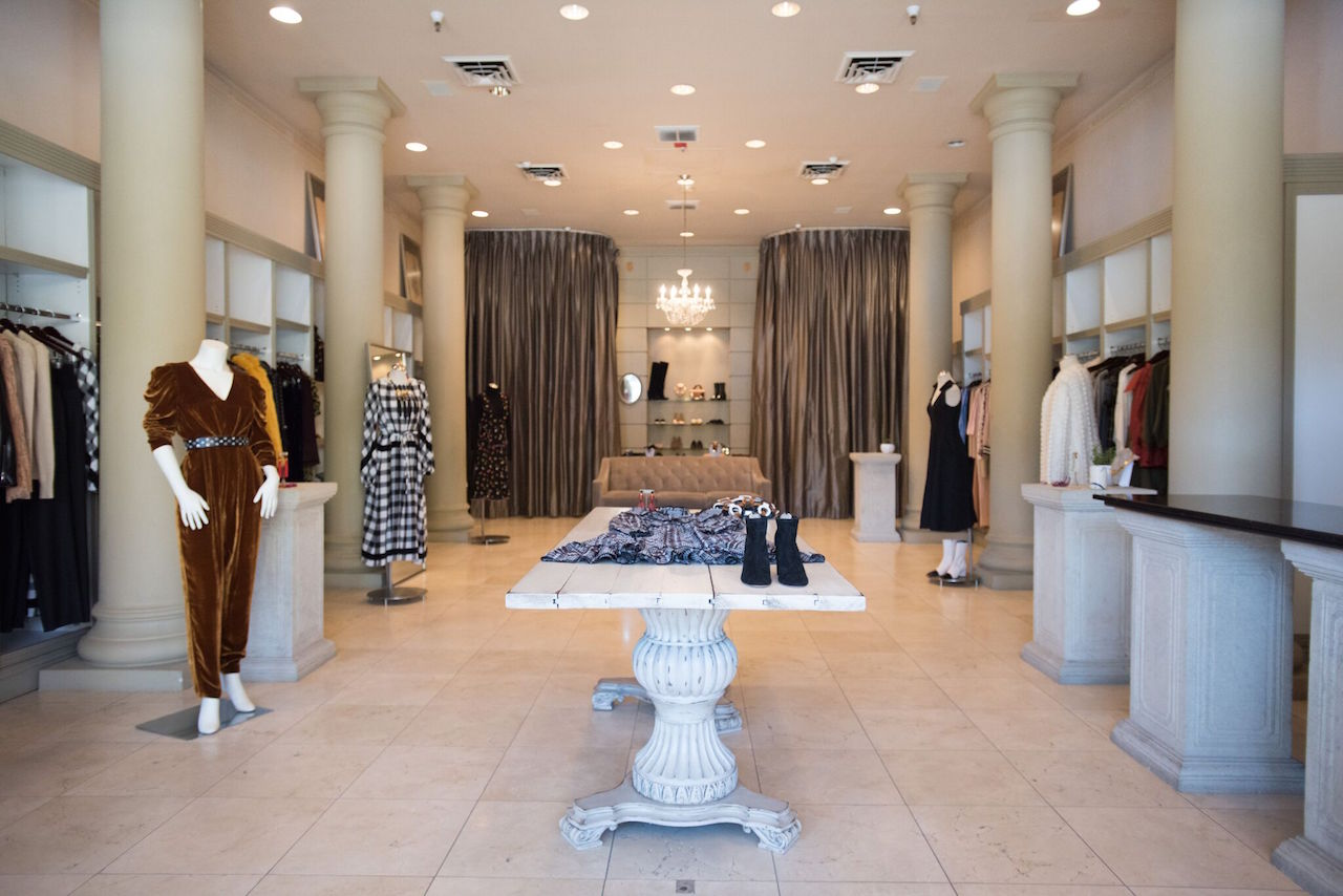 Inside the McMullen boutique in Oakland