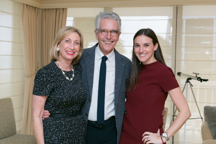 Eileen Berman (left) and Jay Bauer with Board of Directors Vice President Alana Faintuch