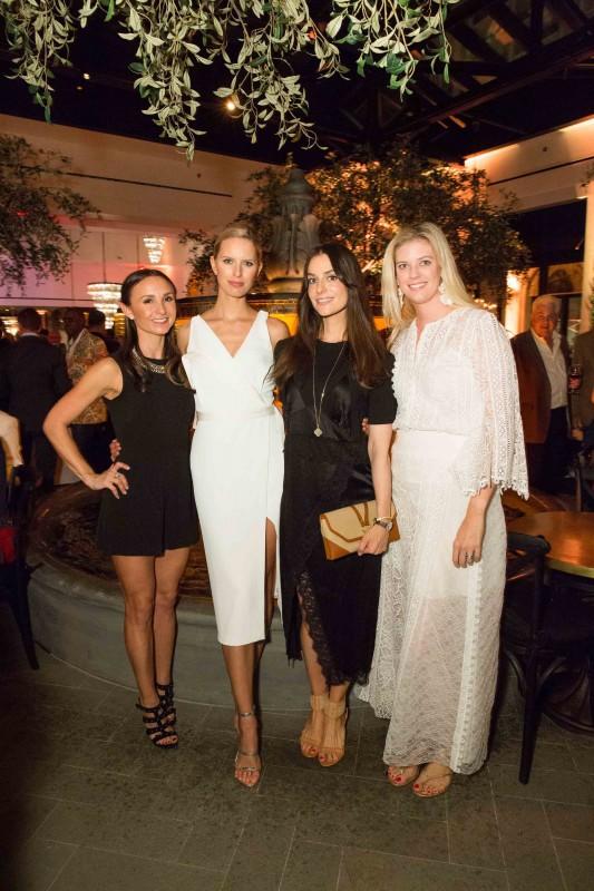 Georgina Bloomberg, Karolina Kurkova, Ariana Rockefeller, and Frances Webster